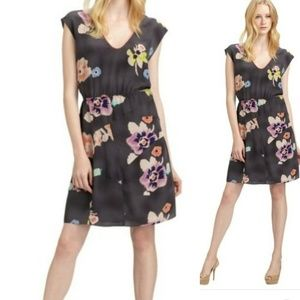 Rebecca taylor silk floral dress with open back 8